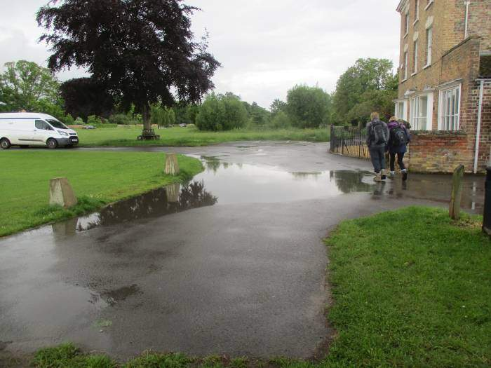 Puddles across the road