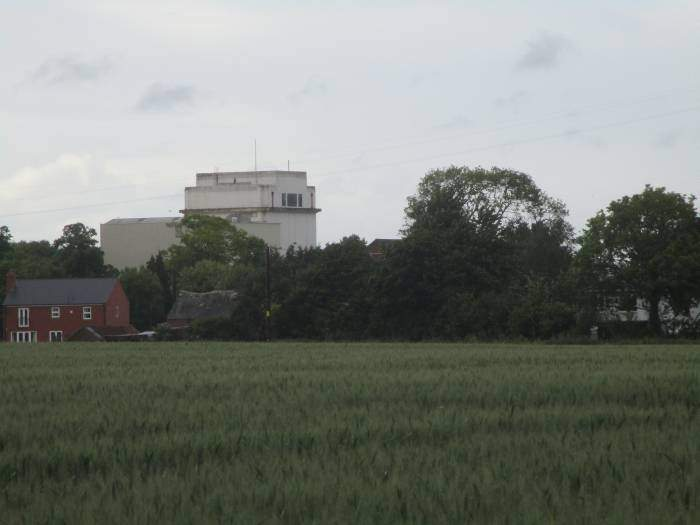 Looks like an airfield control tower but it's the mill by the canal