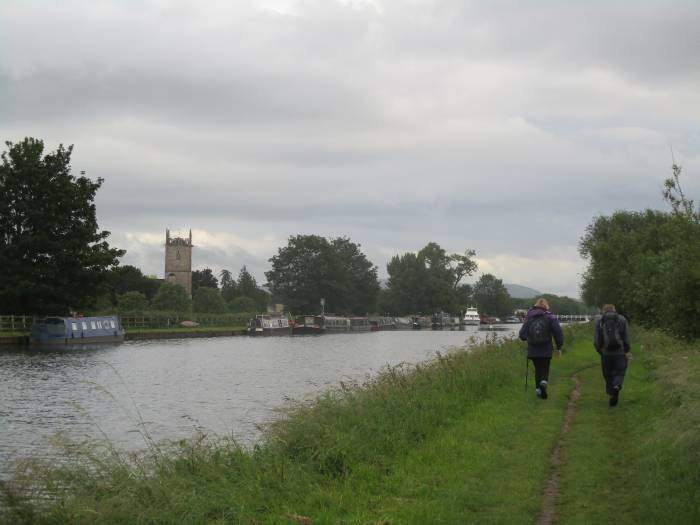 Frampton church on the other side of the canal