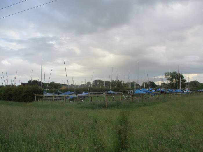 Past the boating club