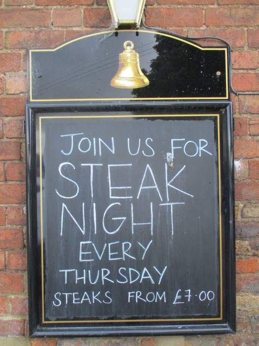 For our excellent steaks