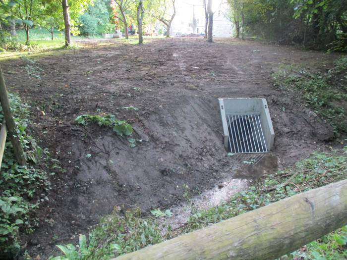 Past drainage work going on near Pete's Mum's house to prevent flooding