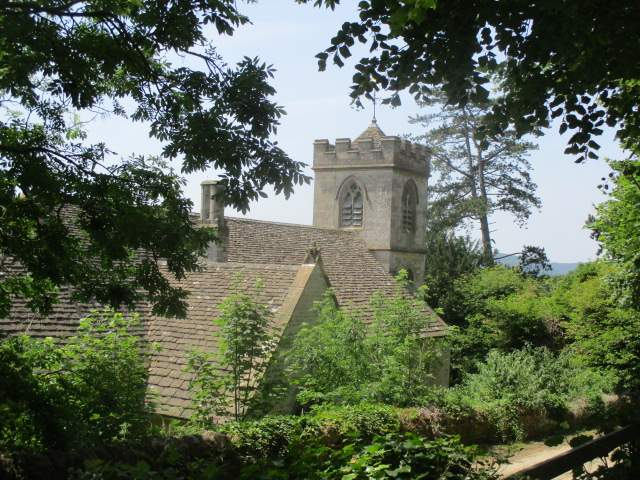 Past Owlpen church