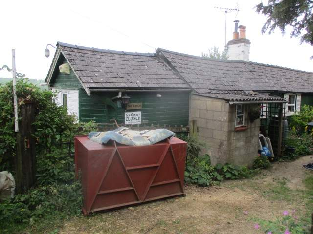 The Haven, the hut on the Cotswold Way where for years an elderly sold cakes and tea and kept a visitors' book.
