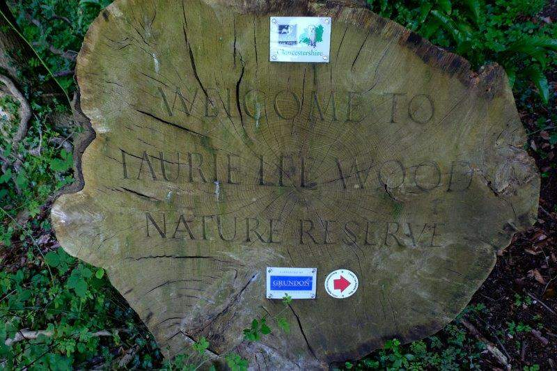 Then into the Laurie Lee Nature Reserve