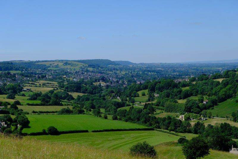 With views down the valley to Stroud and beyond