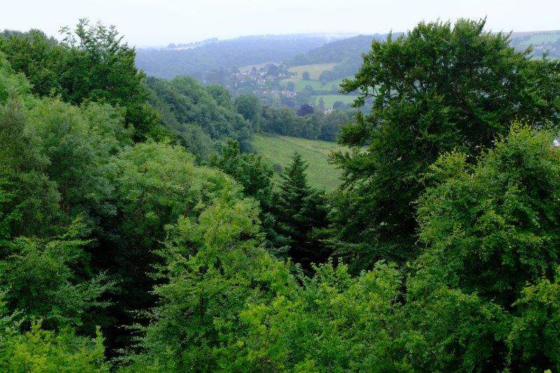 Looking across to Woodchester