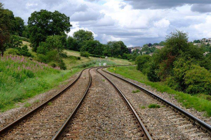 Then over the railway
