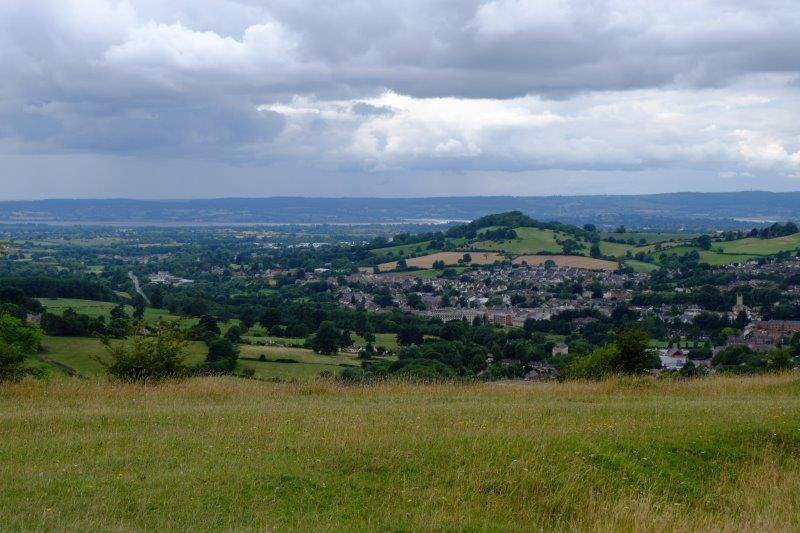 Then we have more views across Doverow and the Severn from Rodborough Common