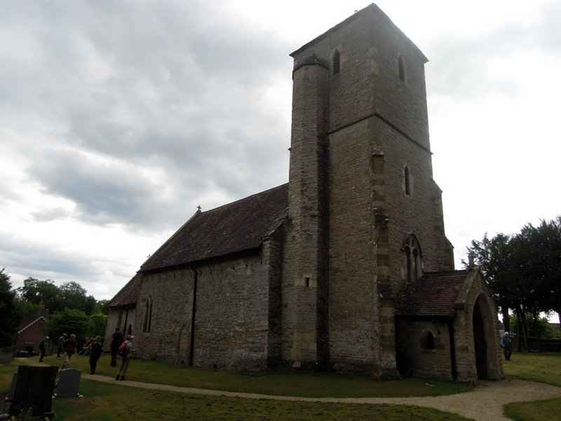 * To reach the church, quite an imposing building from the outside