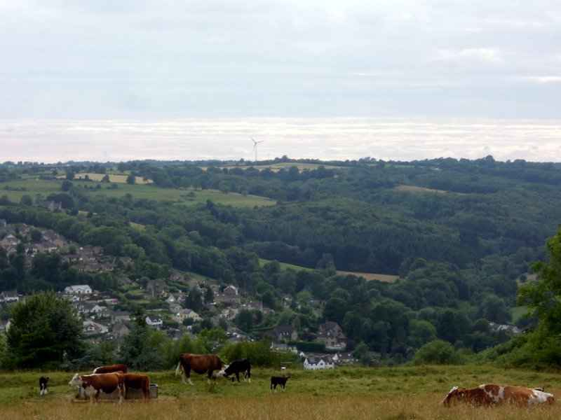 We have views over Windsor Edge and the wind turbine