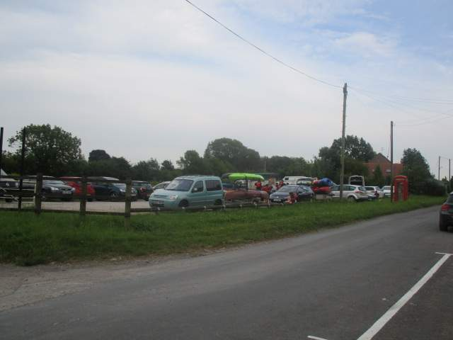 Purton, and the car park is full of children and kayaks