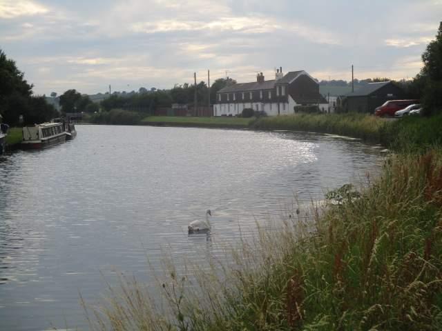 An idyllic scene on the canal
