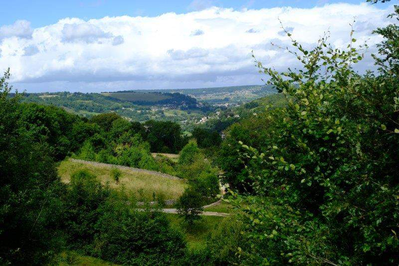 Reaching Besbury Common we have views down to Stroud