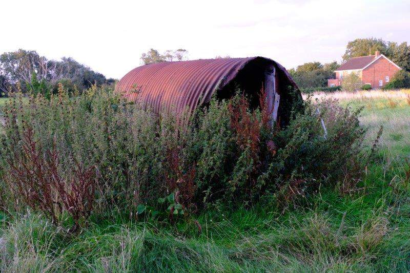 A shed rusting away