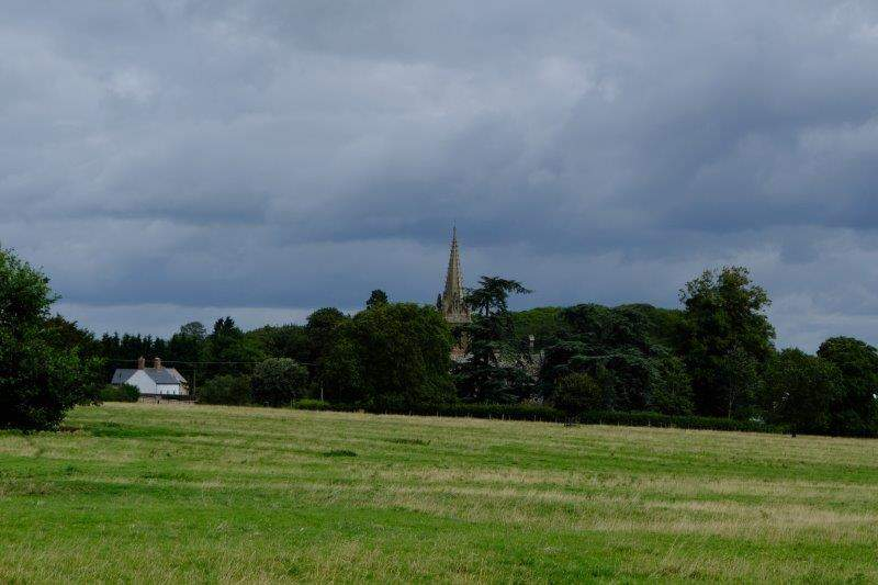 Fretherne Church across the fields