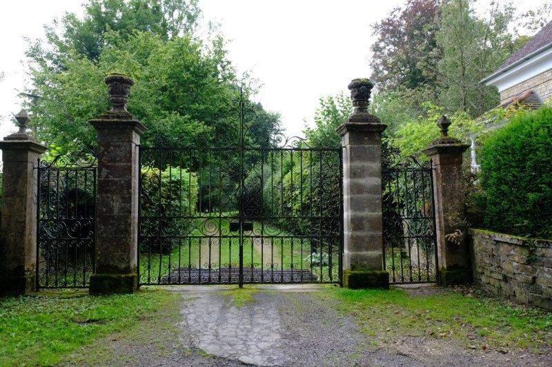 An imposing gateway