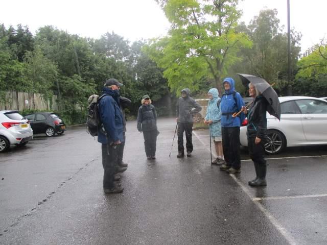 It's p***ing down in Tewkesbury for Enid's walk