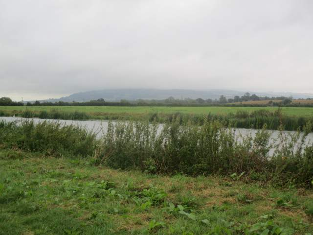 But we set off along the River Avon with Bredon Hill buried in mist