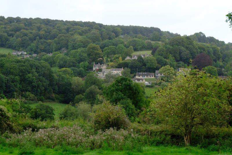 Continuing up the other side of the valley we have views of Sheepscombe