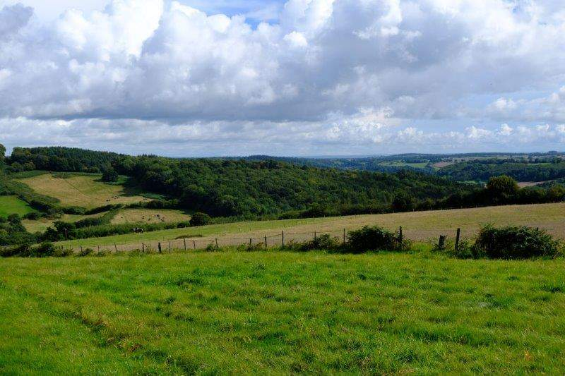 With views over the surrounding countryside
