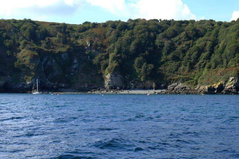 Past a number of secluded beaches