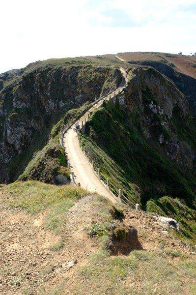 And overlooking the causeway at La Coupee leading to Little Sark