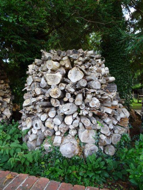 And wood piled up for the winter