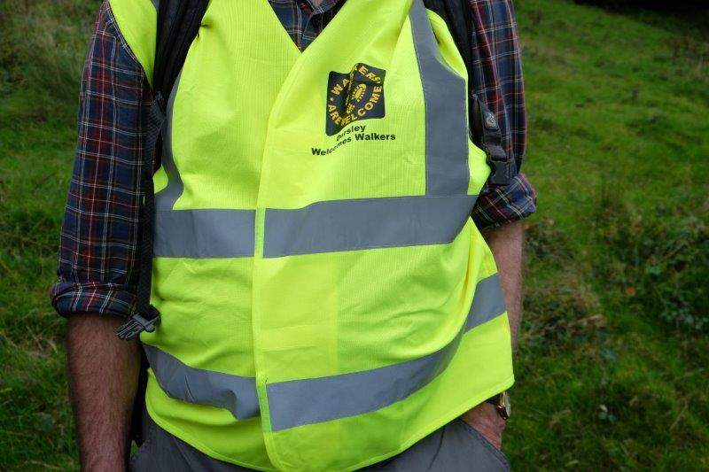 Brian still wearing the Dursley Welcomes Walkers jacket