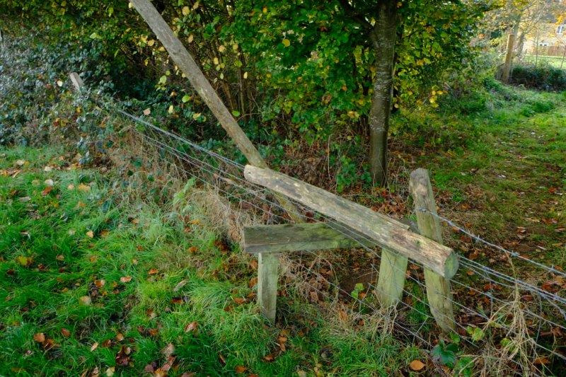 Where we find a stile which has seen better days - reported by John
