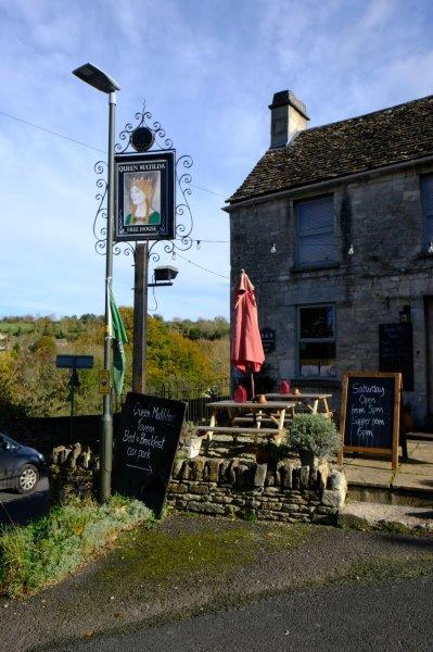 Then on into the village where we notice that the Cross Inn is now the  Queen Matilda