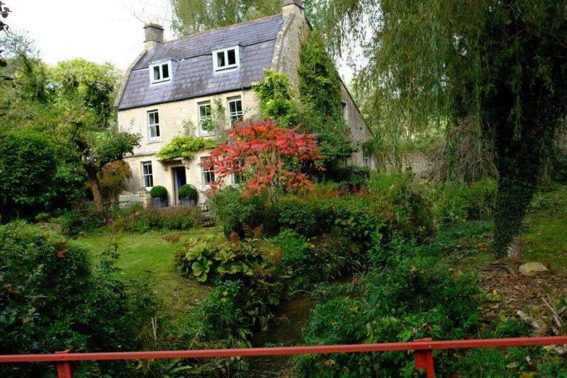 Passing through the garden of a house