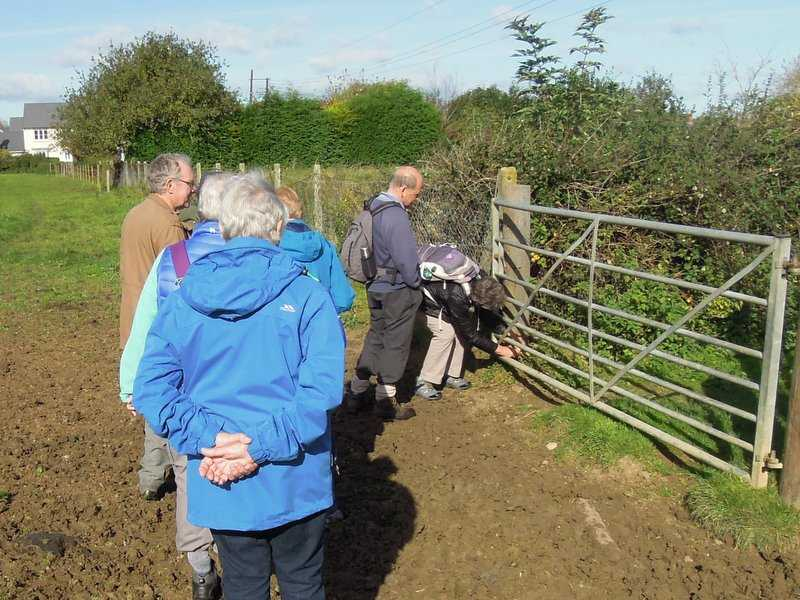 A spot of trouble with the gate is resolved