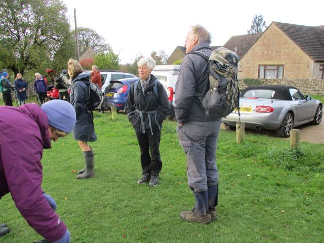 Preparations for Jill and Sue's Oakridge walk at the village hall