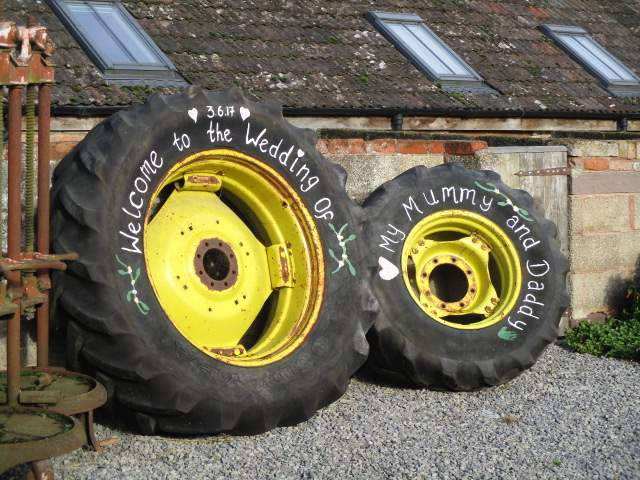 What a good use for old tractor tyres!