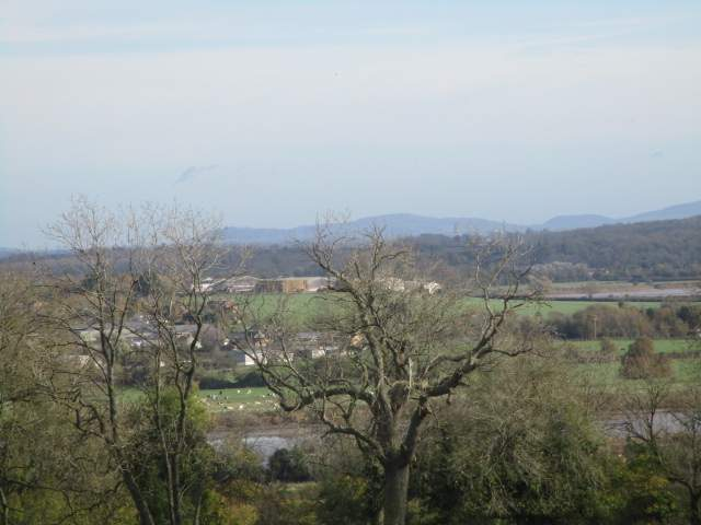 From the top of Barrow Hill we can just see Gloucester Cathedral on the skyline