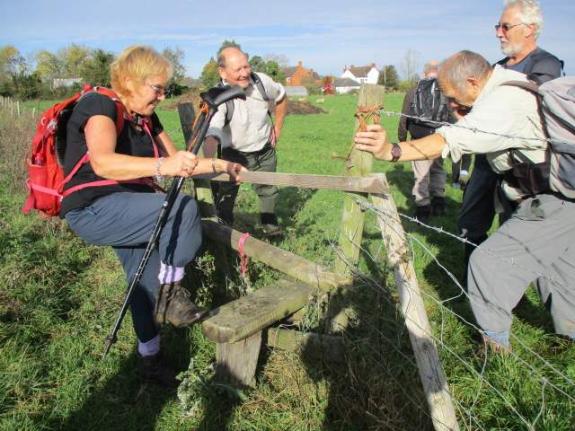 Richard and Ray support a very wobbly stile