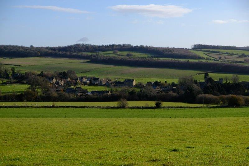 Looking back across the valley to  Cutsdean