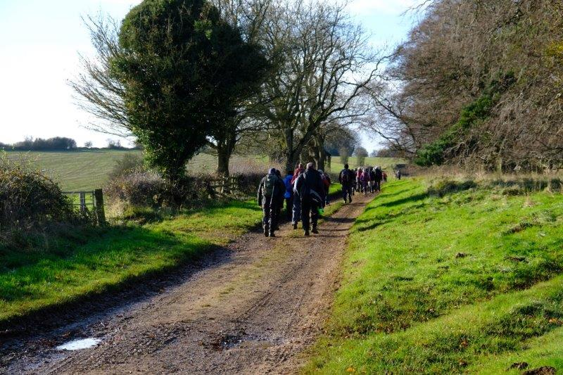 And continue along a broad track on the Cotswold Way