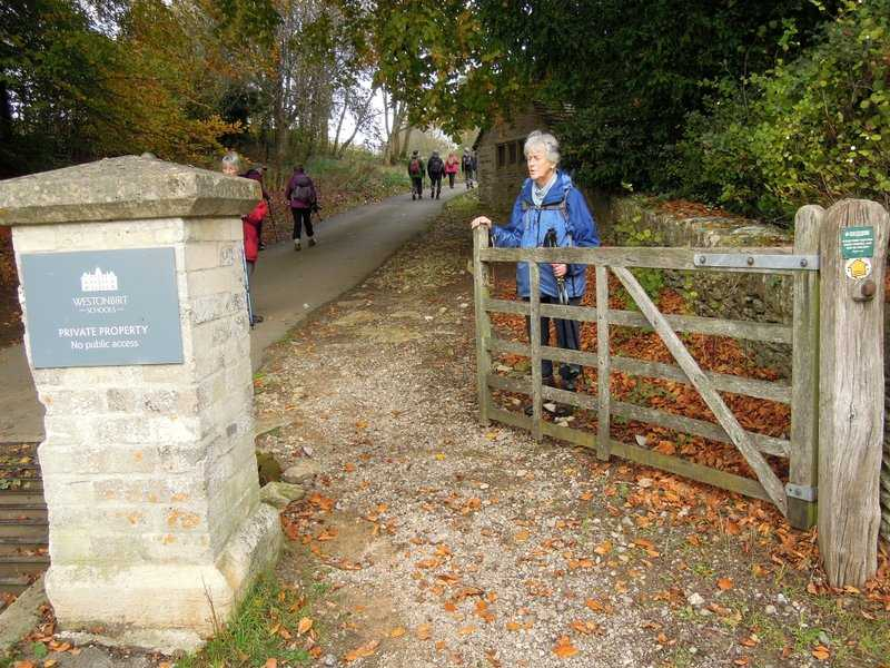 Westonbirt School, private property, no public access(!) - except for the public right of way!