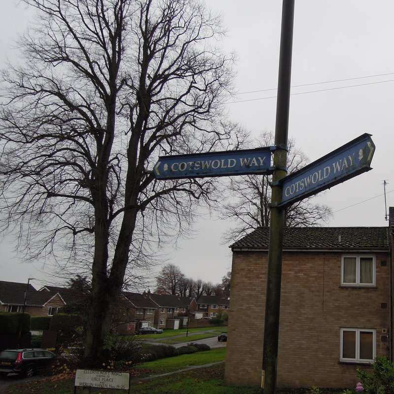 Never seen blue Cotswold Way signs before