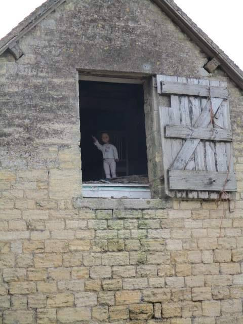 The doll in the barn is still here