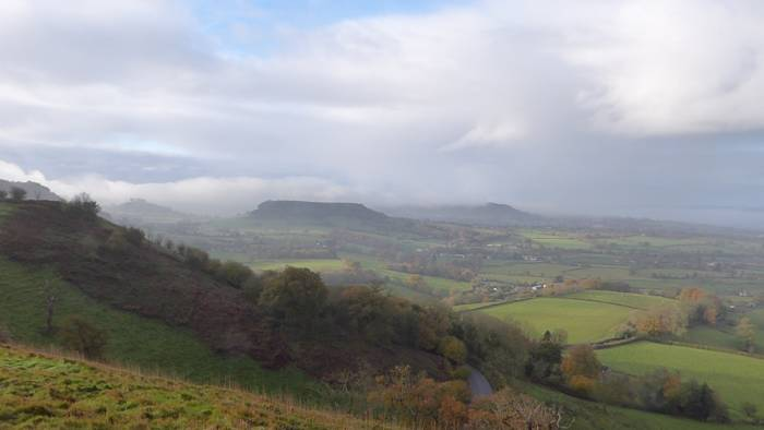 Peter took this photo of the view from Coaley Peak*