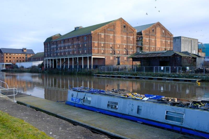 Old warehouses across the canal