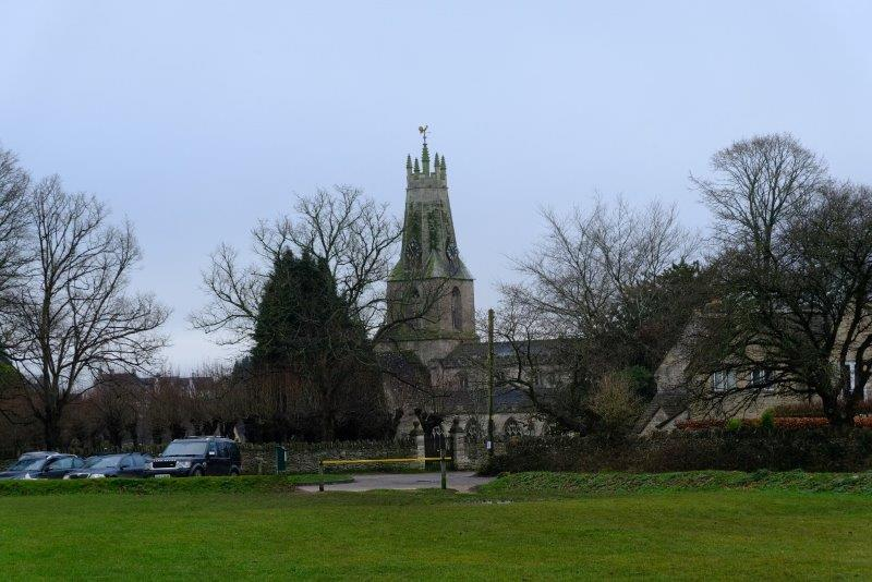 Minchinhampton Church in front of us