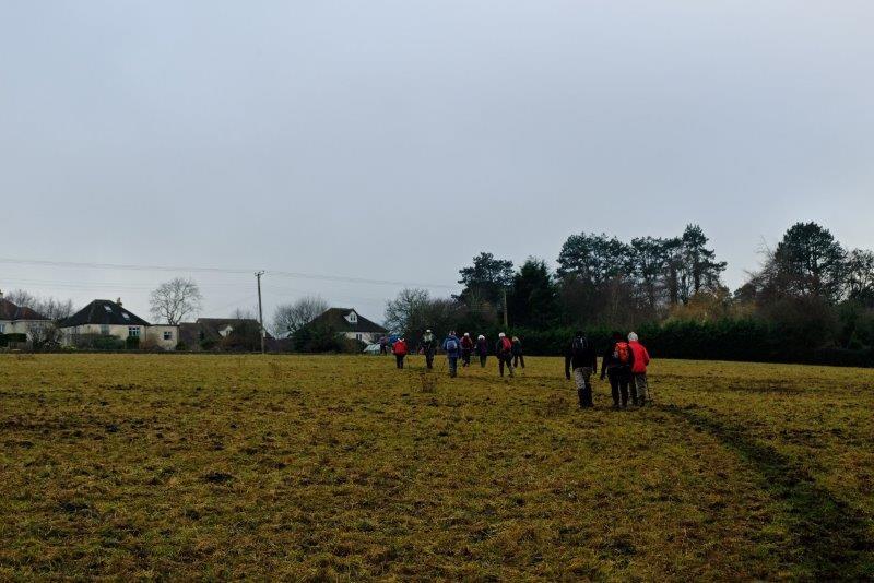 We then cross a field