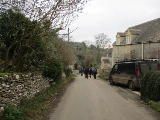 Down through the village