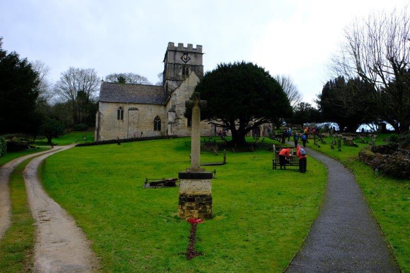 And into the churchyard