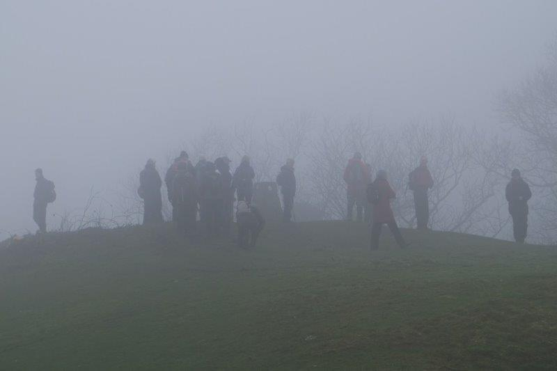Over to the trig point on Haresfield Beacon