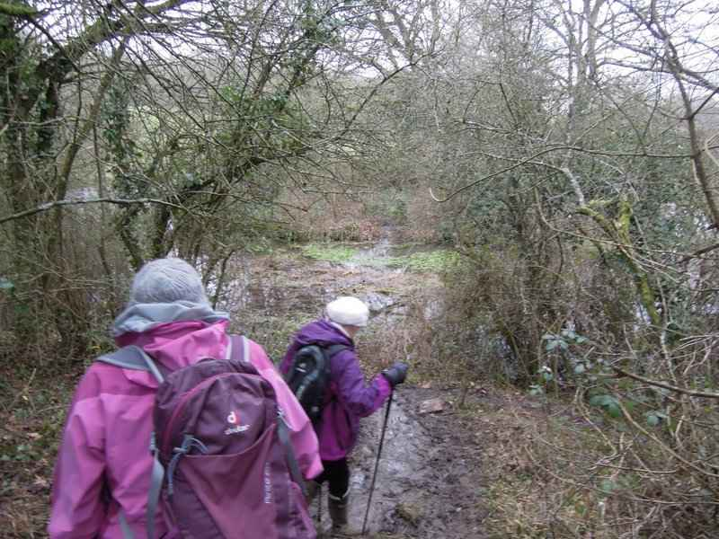 Then down through more mud to recross the Avon